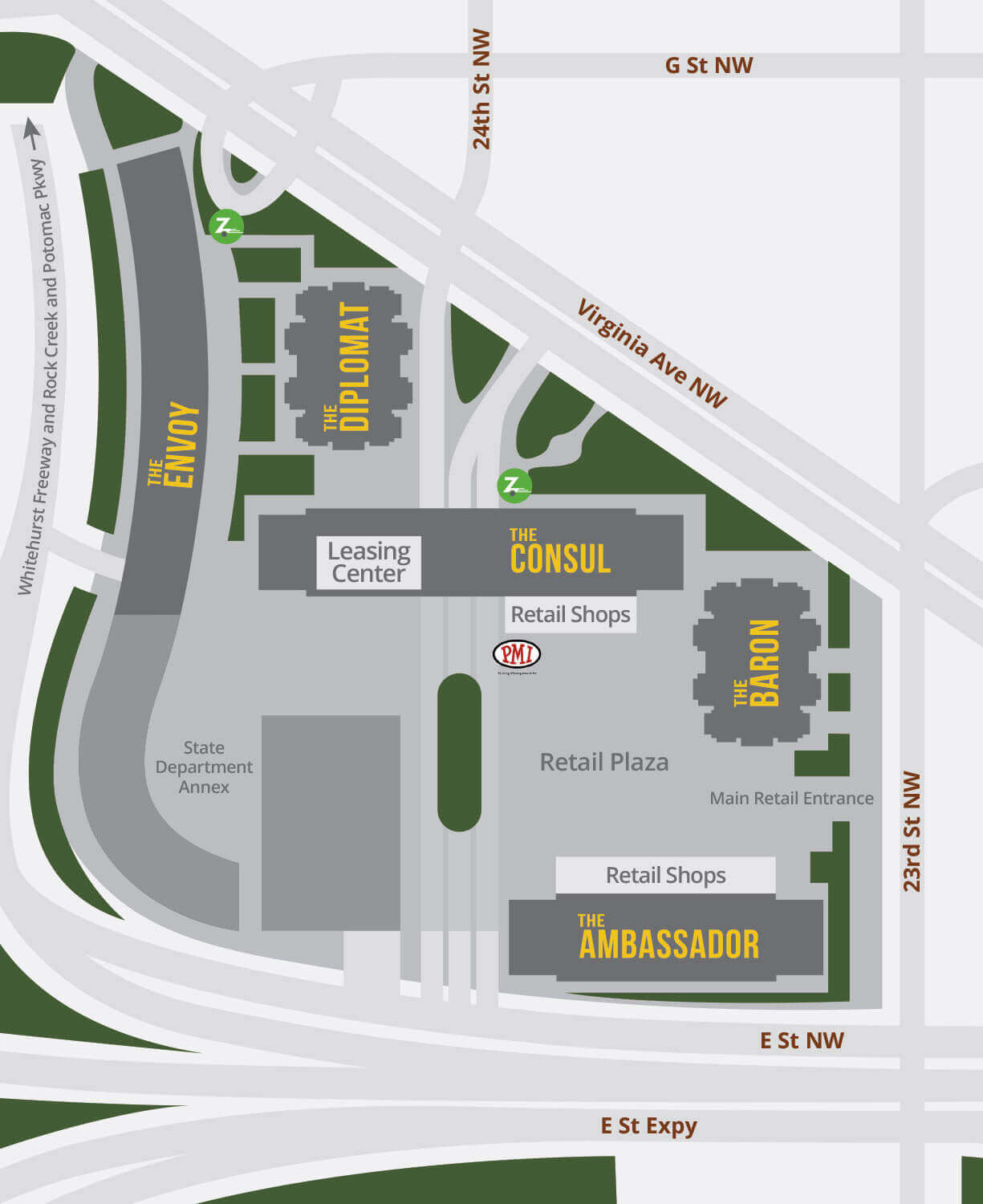 Columbia Plaza Apartments Site Plan Map