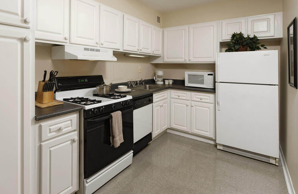 Kitchen in the Baron Apartment Building in Foggy Bottom DC