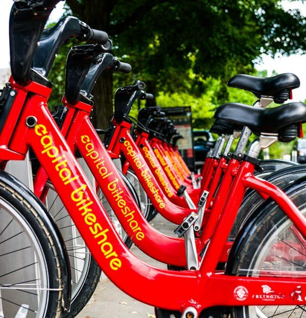 Foggy Bottom Apartments Photo Gallery - Capital Bikeshare Bikes are available at Columbia Plaza