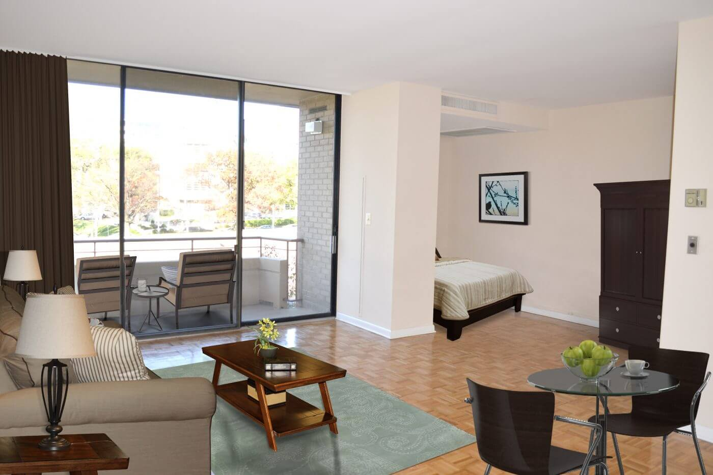 Efficiency Apartments With Balcony In Foggy Bottom