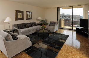 Living Area in the Envoy Apartment Building in Washington DC