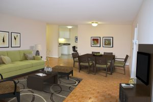 Luxury Apartments Foggy Bottom Living Room / Dining Room