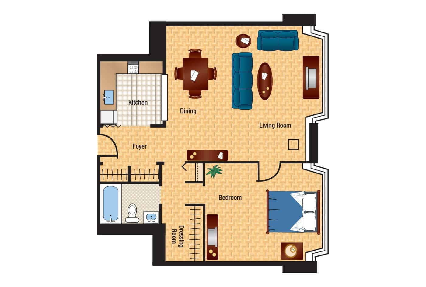 The Consul Floor Plans Columbia Plaza Apartments