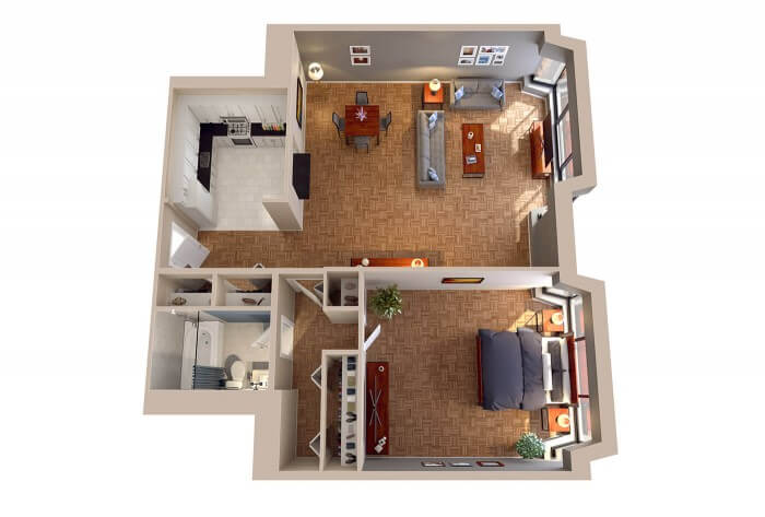 1 Bedroom Apartments in DC - The Maryland