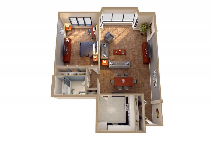 The New Hampshire - 3D Floor Plans