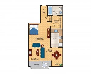 The Bethesda Efficiency Apartment Floor Plans